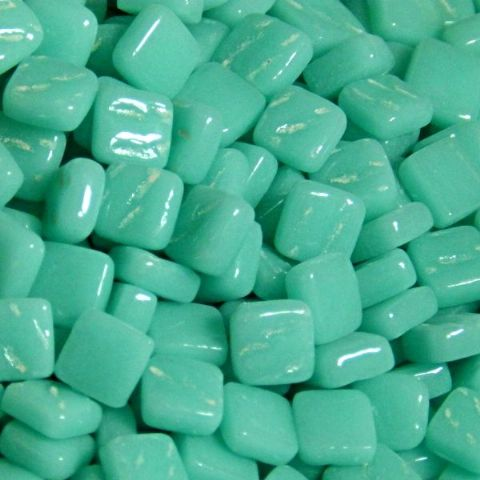 8mm Square Tiles - Jade Green Gloss - 50g